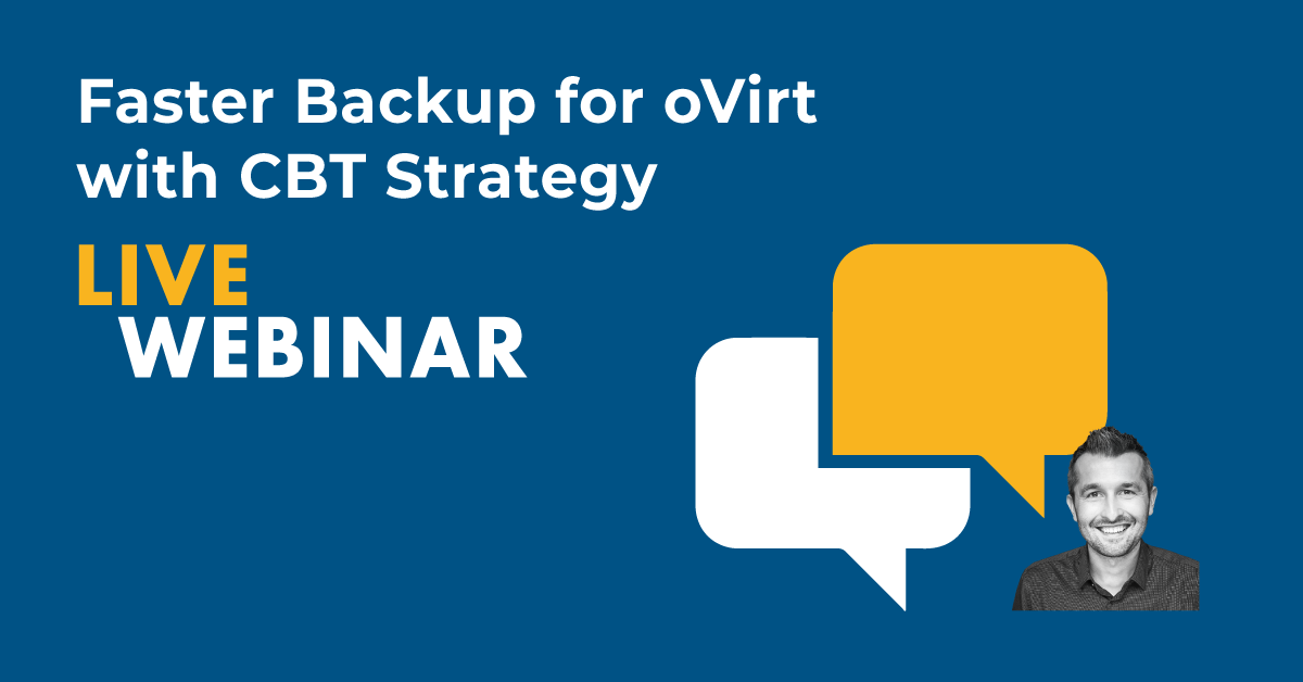Faster backup for oVirt with CBT strategy
