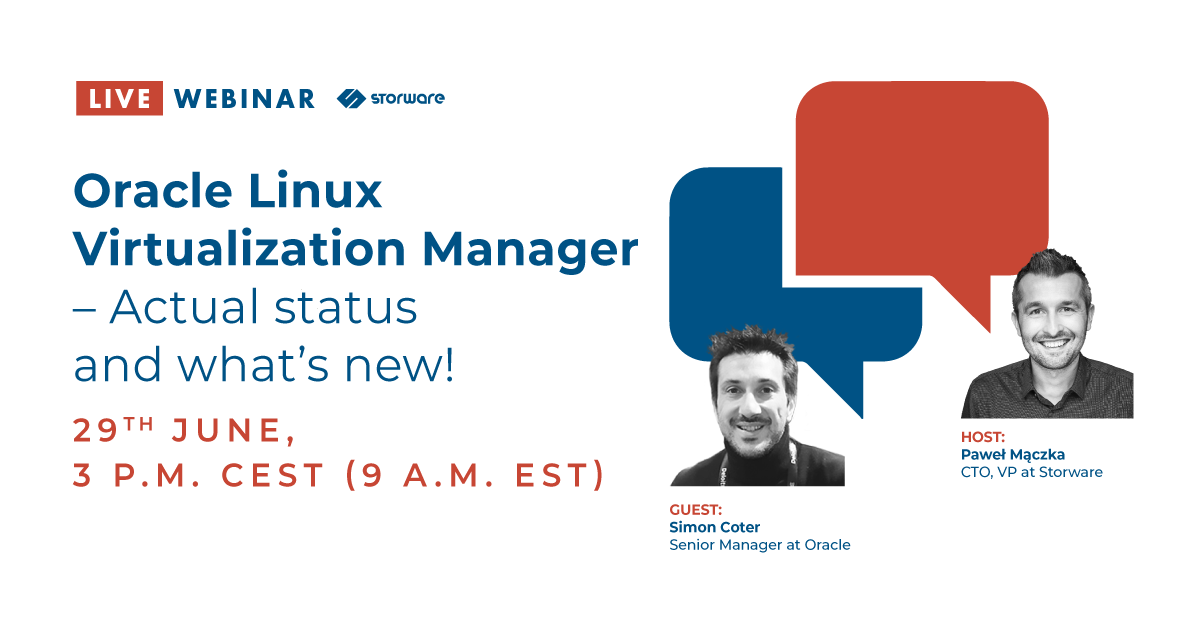 Oracle Linux Virtualization Manager – actual status and what's new